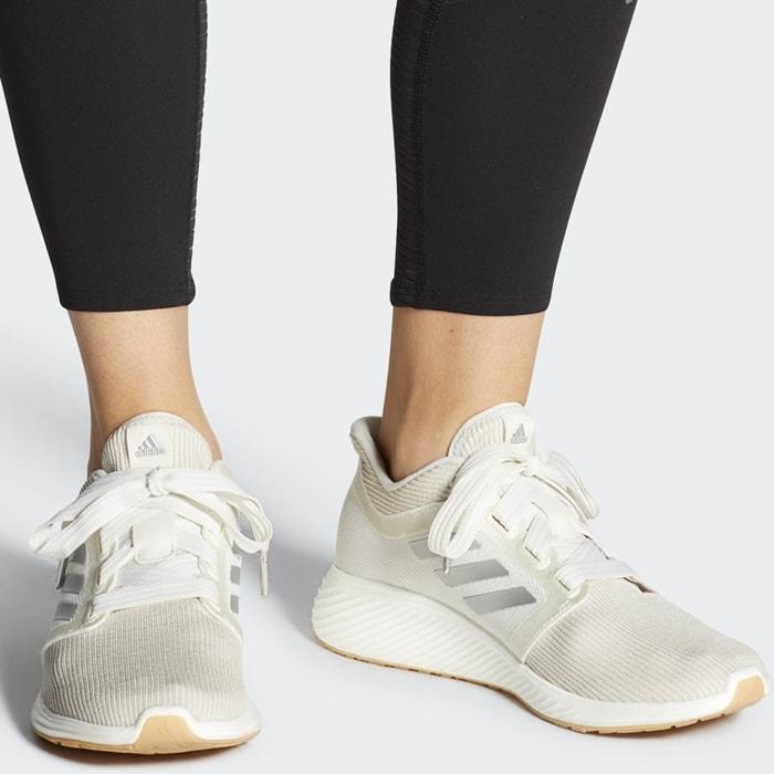 White Adidas Women's Edge Lux 3 Running Shoes
