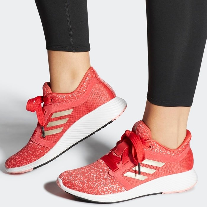 Red Adidas Women's Edge Lux 3 Running Shoes