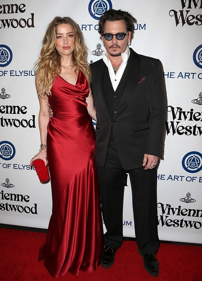 Amber Heard and Johnny Depp at The Art of Elysium 2016 Heaven Gala in Culver City on January 10, 2016