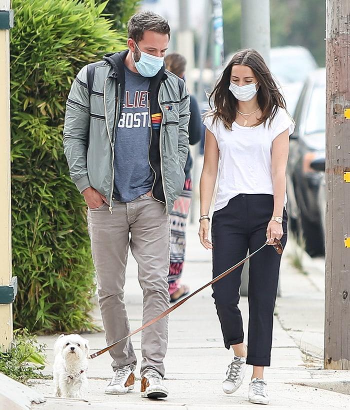 Ben Affleck joins girlfriend Ana de Armas for a walk around their Los Angeles neighborhood