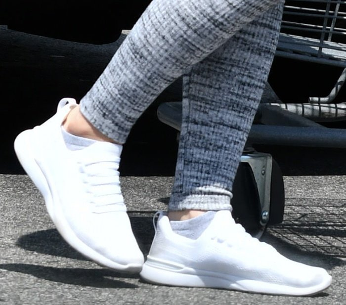 Ariel Winter completes her athleisure look with APL TechLoom Breeze white sneakers
