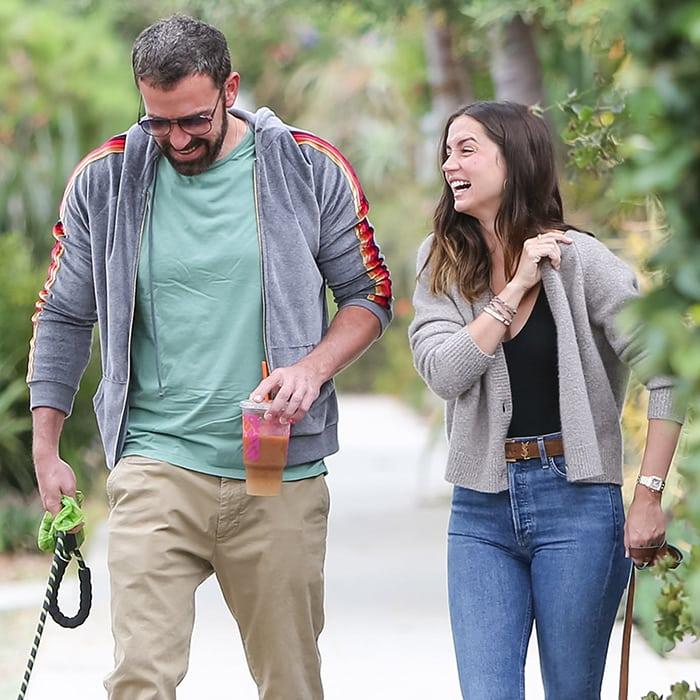 Ben Affleck and Ana de Armas giggle like love-struck teenagers