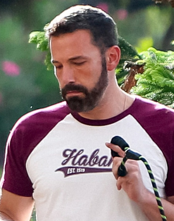Ben Affleck looks younger after dying his beard and hair darker