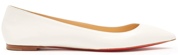 Christian Louboutin Ballalla Point-Toe Leather Flats