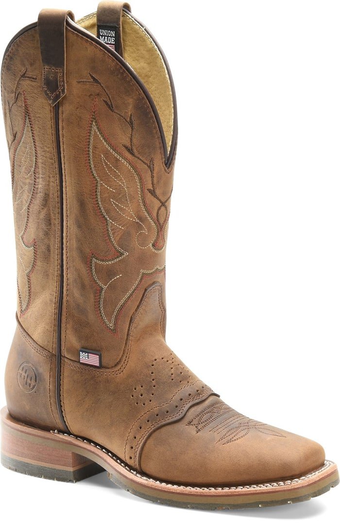 Double-H Boots Charity Domestic Wide Square Toe Work Western Boot