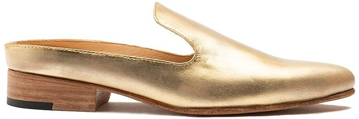 Esquivel Gold Distressed Grace Slip-on