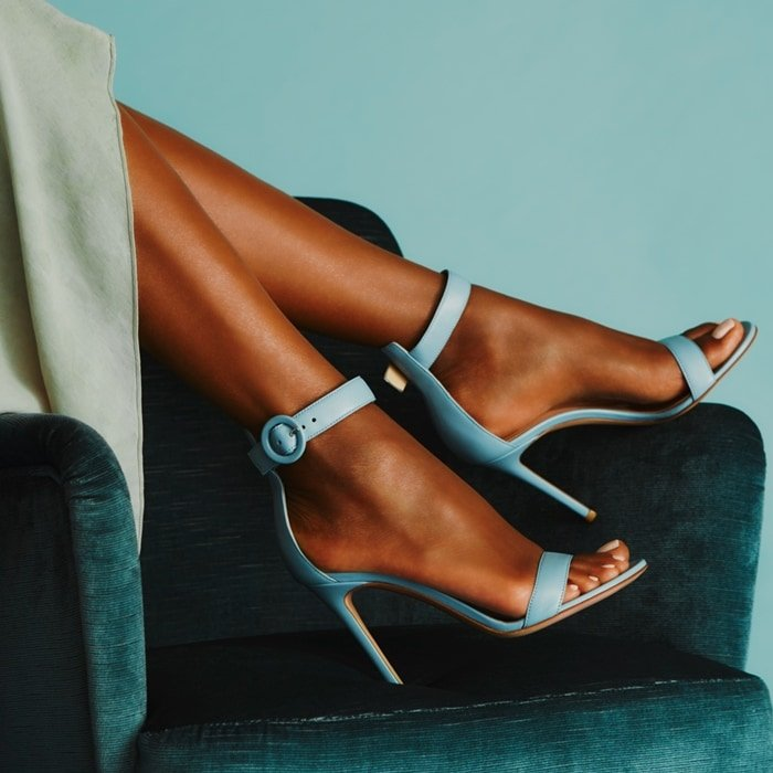 Gianvito Rossi's iconic sandal is named after the Italian Riviera resort town
