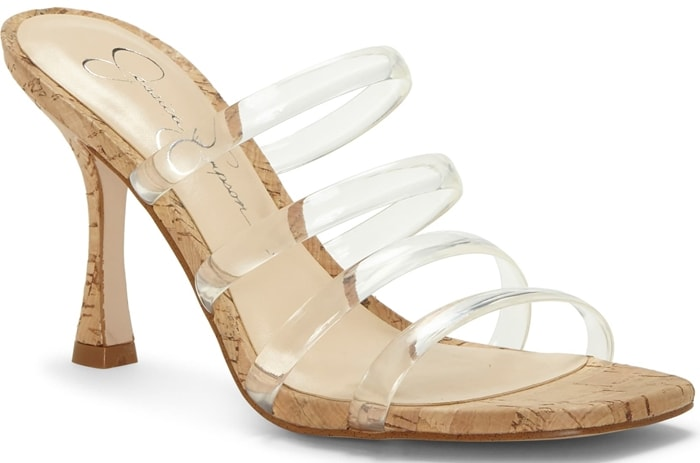 Jessica Simpson Oniela sandals are a playfully-chic style featuring a clear vinyl upper in a square-toe silhouette
