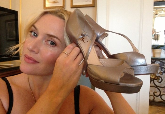 In November 2013, Kate Winslet donated shoes for an auction to raise money for Small Steps Project