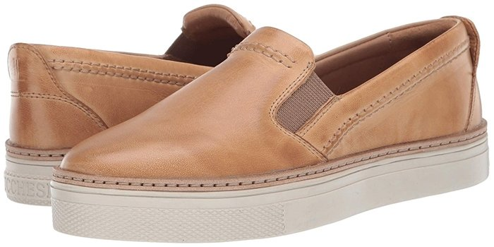 Lucchese After Ride Slip-On Shoes in Tan Burnished