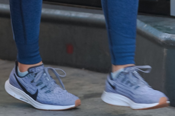 Lucy Hale completes her sporty look with Nike Air Zoom Pegasus 36 shoes