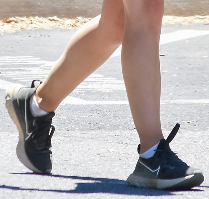 Lucy Hale completes her hiking outfit with Nike trainers