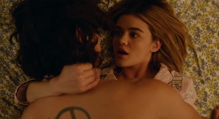 Lucy Hale stars as the pornophobic violinist Lucy Neal in the American romantic comedy film A Nice Girl Like You