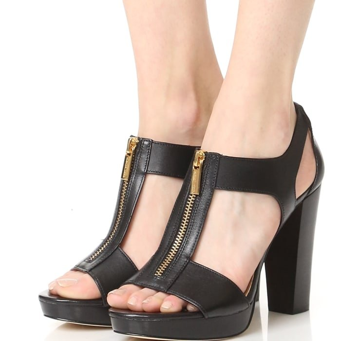 Cutout MICHAEL Michael Kors sandals composed of soft, smooth leather