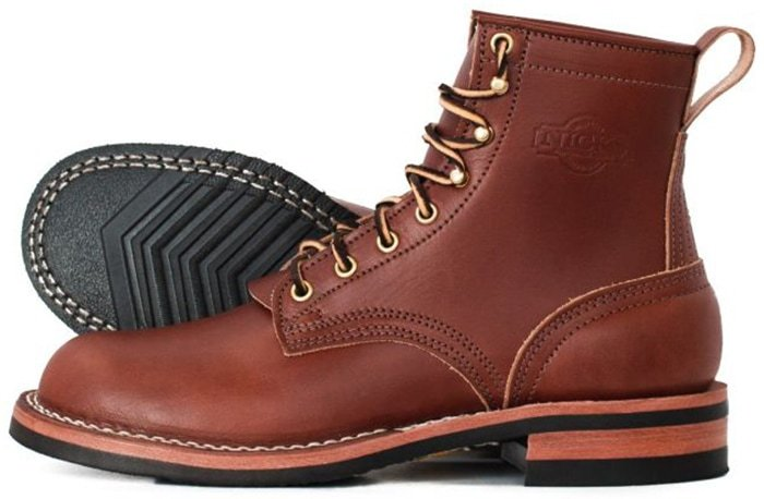 Nicks Boots Falcon Veg Tan Brown Moderate Arch