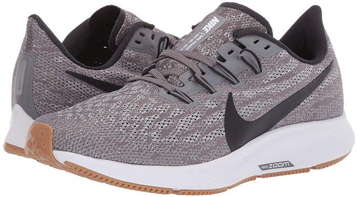 Gunsmoke/Oil Grey/White/Gum Light Brown Nike Air Zoom Pegasus 36 Sneakers