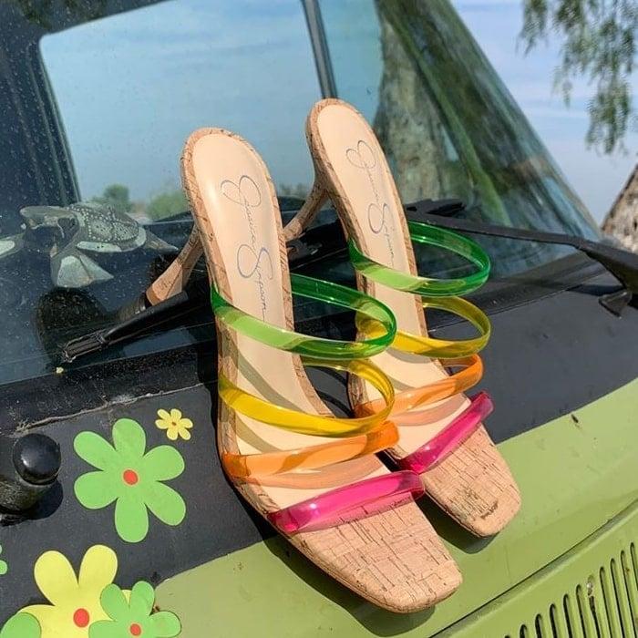 Oniela Clear Strap Slide Sandals