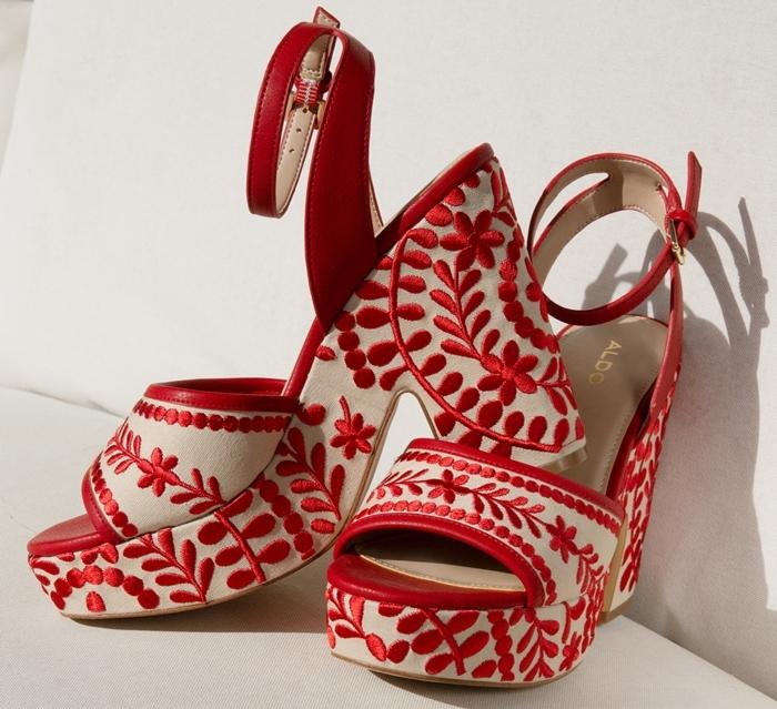 ALDO Quintinia Embroidered Block Heel Sandals