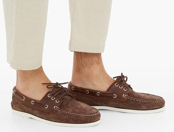 Quoddy Downeast Suede Deck Shoes
