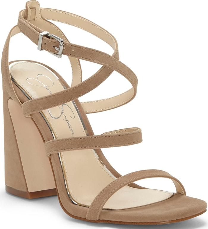 Go from boardwalk to dance club in this strappy sandal lifted by a chunky sculpted heel