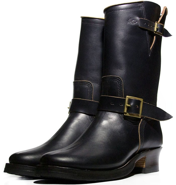Role Club Black CXL Horsehide Engineer Boots Limited Edition