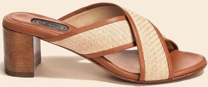 Salpy Chelsea Carved Wood Heeled Sandals