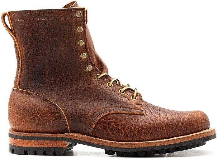 Truman Boot Company Cognac Shrunken Bison Upland Boot 79 Last