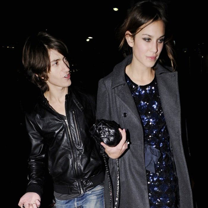 Alexa Chung and Alex Turner, pictured on a date in 2009, started dating soon after the Arctic Monkeys were named Best Band In The World at the Q Awards in 2007