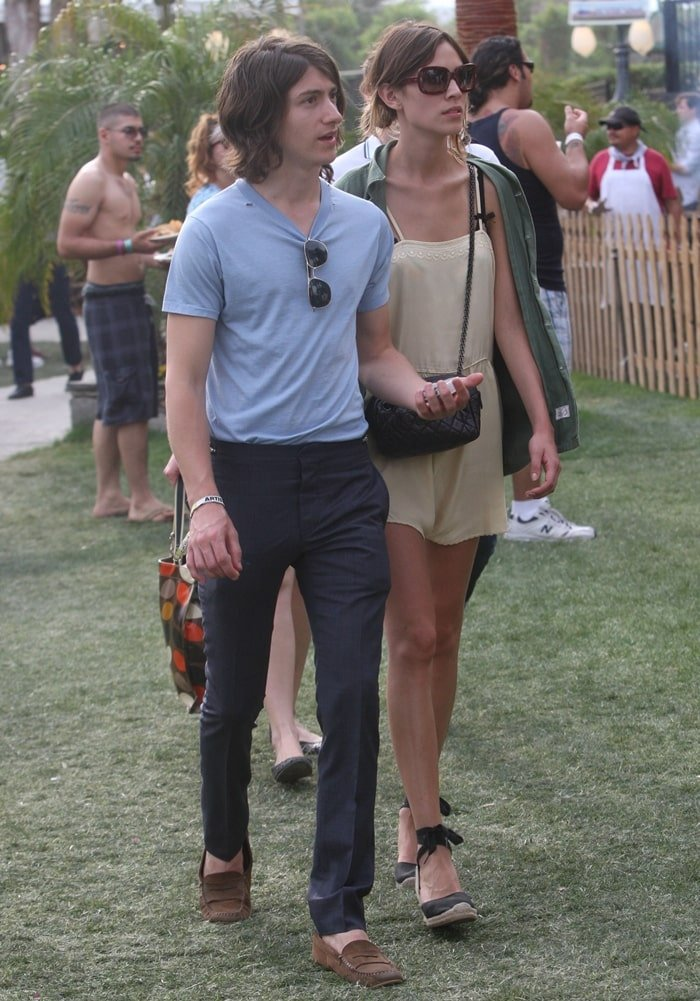 Alexa Chung and Alex Turner, pictured at the Coachella Music Festival 2010, were in a relationship from July 2007 to 2011