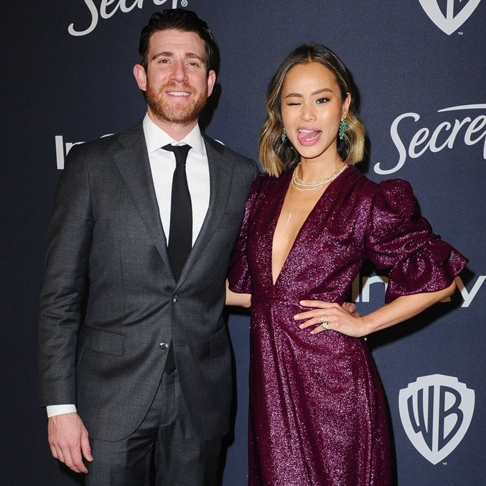 Bryan Greenberg and his wife Jamie Chung attend The 2020 InStyle And Warner Bros. 77th Annual Golden Globe Awards Post-Party