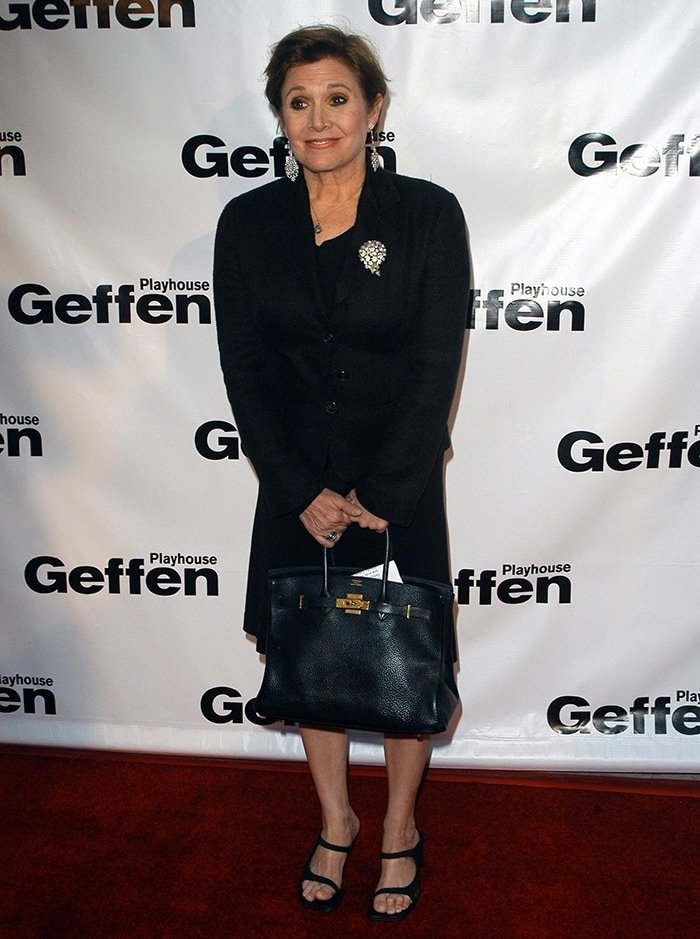 Carrie Fisher at Backstage at the Geffen Gala on May 1, 2006