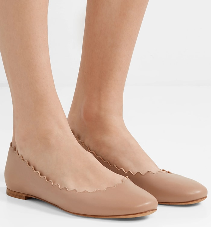 Chloé's 'Lauren' ballet flats are easily recognized by their pretty scalloped edges