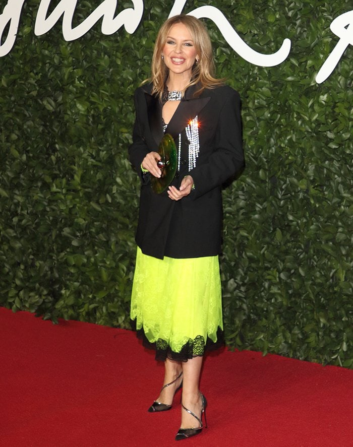 Kylie Minogue at The Fashion Awards 2019 in London on December 2, 2019