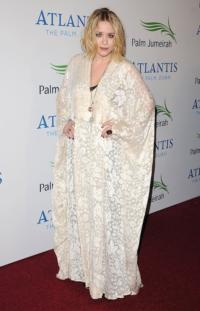 Mary-Kate Olsen at the launch of the new Atlantis Hotel on the Palm Jumeirah Dubai on November 20, 2008
