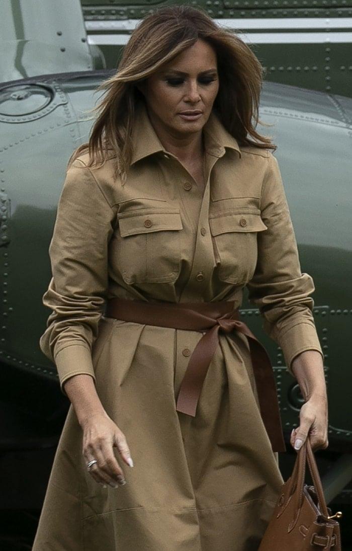 Melania Trump in Stella McCartney shirtdress