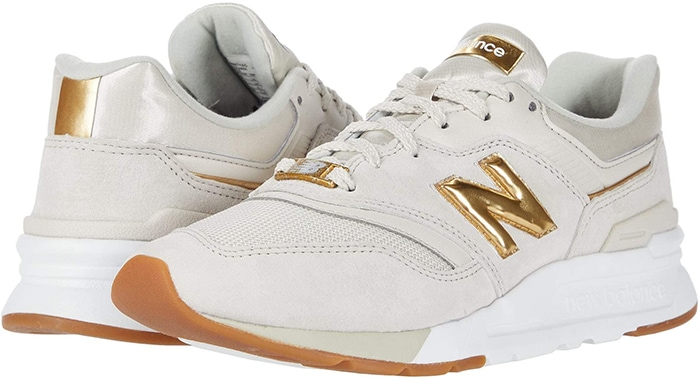 Add a retro sneaker style to your rotation with the moonbeam/gold New Balance Classics 997H shoes
