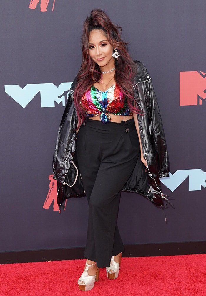 Snooki at the 2019 MTV Video Music Awards on August 26, 2019