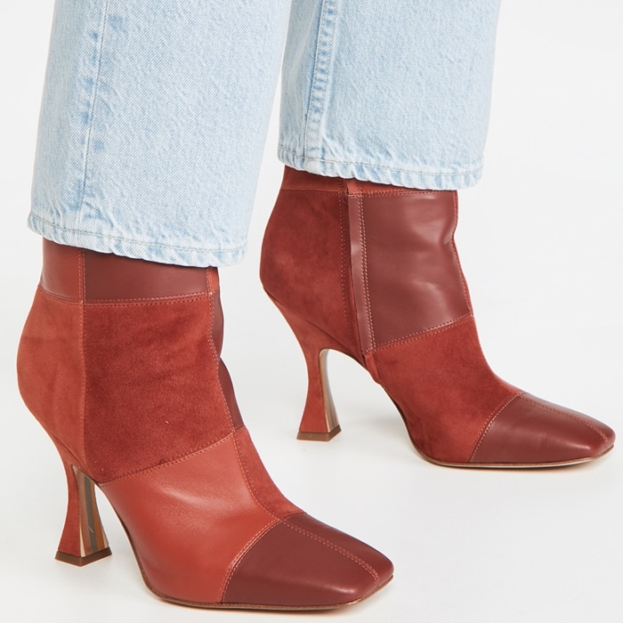 Perfectly faded TRAVE jeans worn with retro-inspired Sam Edelman boots