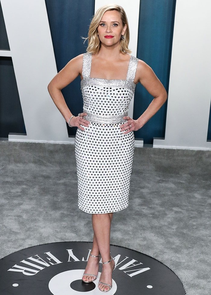 Reese Witherspoon slips her curves in Dolce & Gabbana dress at the 2020 Vanity Fair Oscar Party on February 9, 2020
