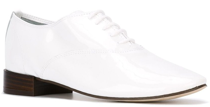 White Repetto Varnished Oxford Shoes