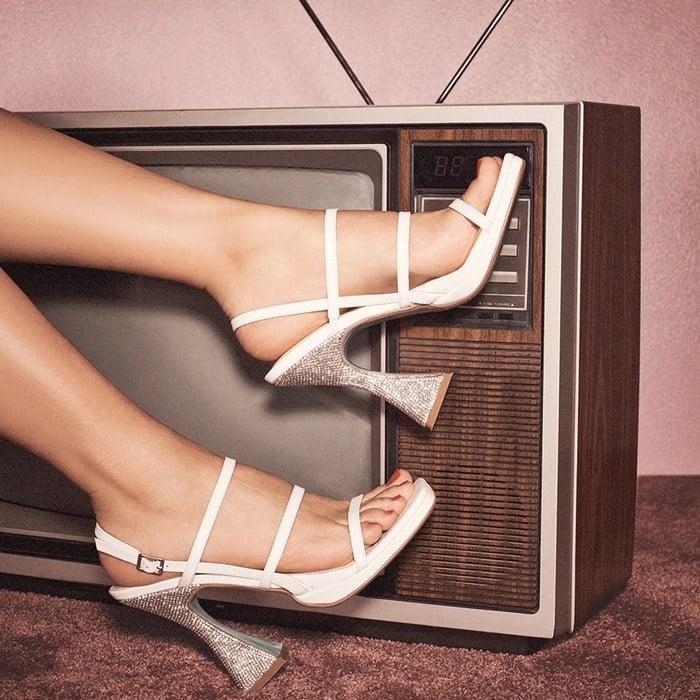 Sb-Pacey Asymmetrical Rhinestone Heels