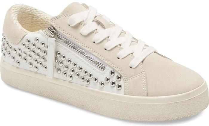Steve Madden Parka Studded Sneakers White Multi