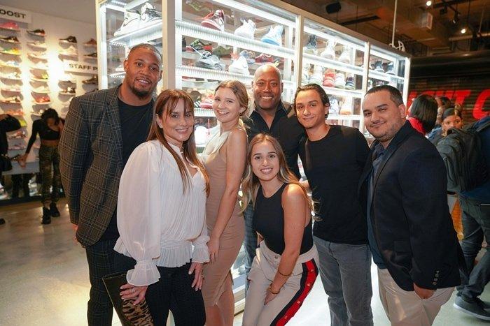 Vonn Bell, Cristy Lincoln, Paulina Fonseca, Jeremy Lincoln, Brittany Spears, Christopher, John Billoch attend the Flight Club Reception