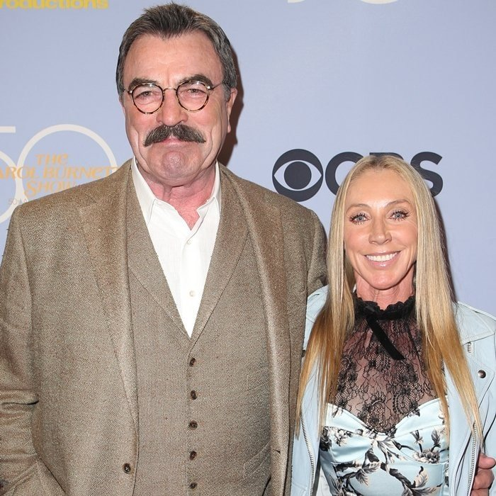 Actor-producer Tom Selleck and wife-actress Jillie Mack attend the CBS' 'The Carol Burnett Show 50th Anniversary Special'