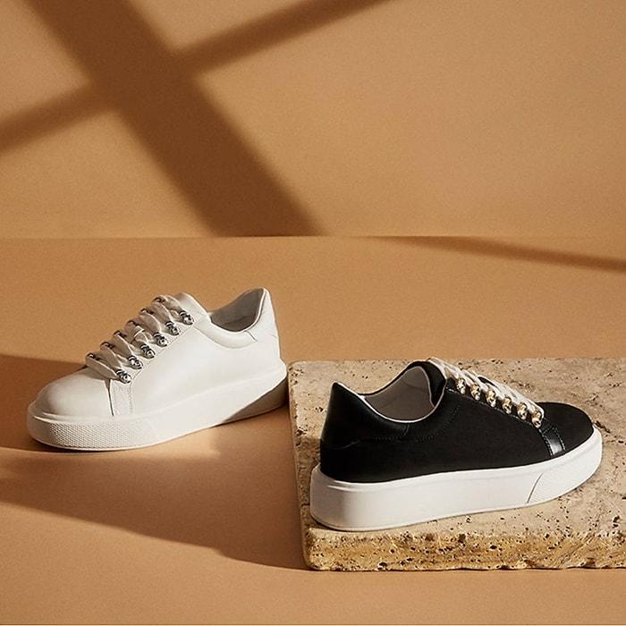 Amitres Platform Wedge Heel Sneakers