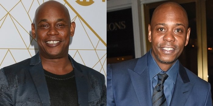 Lookalikes Bokeem Woodbine (L) and Dave Chappelle (R) are not related