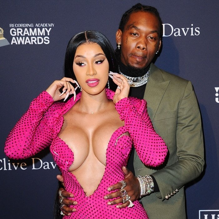 "Cardi B and Offset attend the Pre-GRAMMY Gala and GRAMMY Salute to Industry Icons Honoring Sean ""Diddy"" Combs"