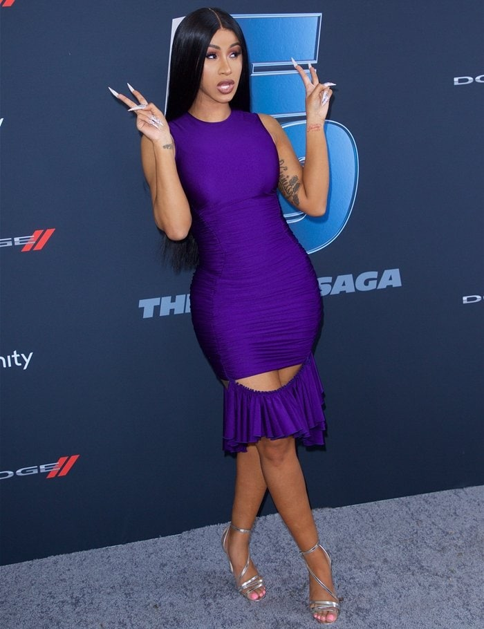 Cardi B attends Universal Pictures Presents The Road To F9 Concert and Trailer Drop