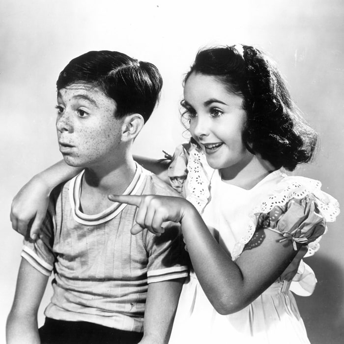 """Elizabeth Taylor made her film debut with Carl """"Alfalfa"""" Switzer in There's One Born Every Minute, also known as Man or Mouse, a 1942 American Universal Pictures comedy film"""