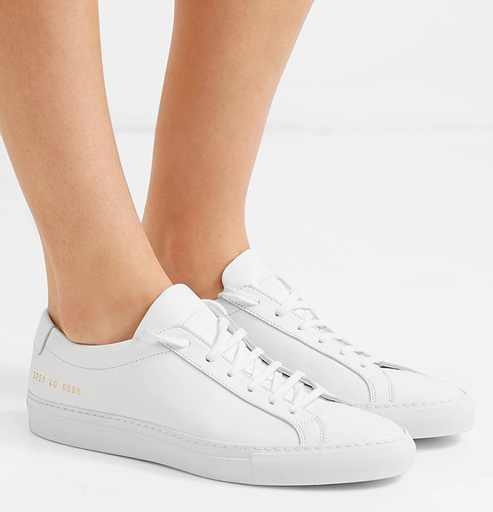 Minimal white Achilles canvas sneakers go with nearly every outfit